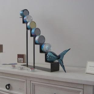 """Le""""thonmonte"""" sculpture humoristique de Franck Sotelo."""
