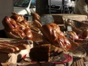 Les brioches sur le marché.