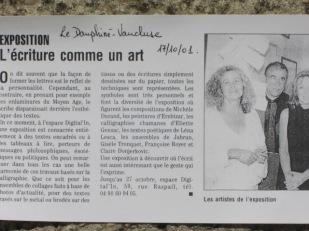 Eliette expose à Carpentras.